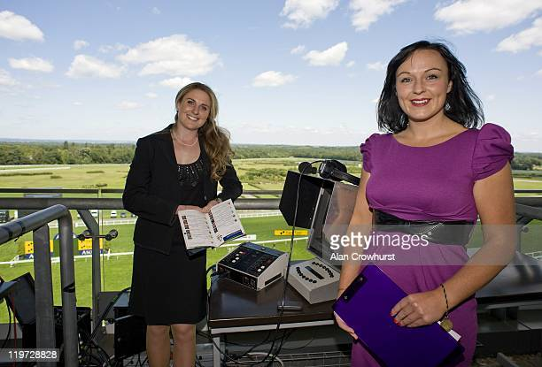 Hayley Moore and Rachel Casey vye to become the first female on course race commentator at racecourses around the UK at Ascot racecourse on July 24...