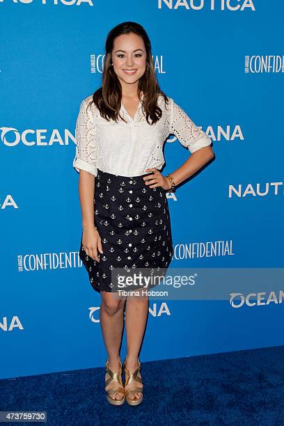 Hayley Orrantia attends the 3rd annual Nautica Oceana beach house party at Marion Davies Guest House on May 8 2015 in Santa Monica California