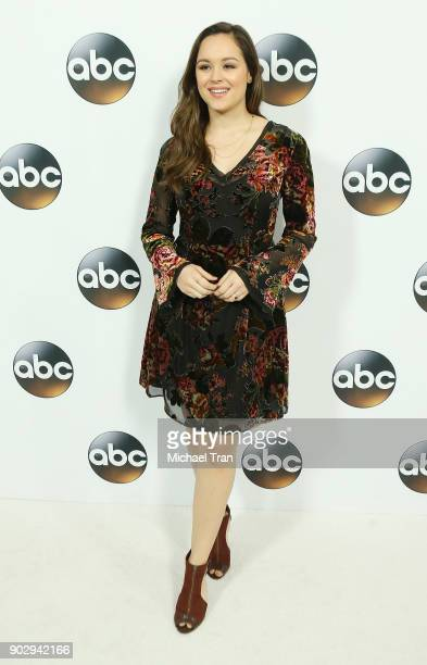 Hayley Orrantia attends the Disney ABC Television Group hosts TCA Winter Press Tour 2018 held at The Langham Huntington on January 8 2018 in Pasadena...