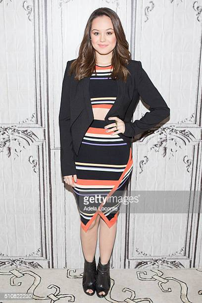 b32535c5de076 Hayley Orrantia attends The Goldbergs at AOL Studios In New York on  February 17 2016 in