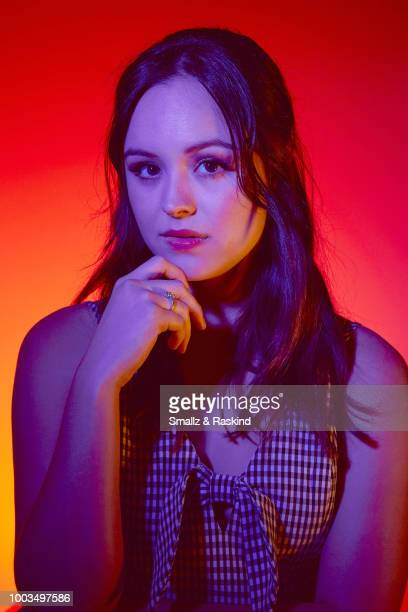Hayley Orrantia from ABC's 'The Goldbergs' and 'Schooled' poses for a portrait at the Getty Images Portrait Studio powered by Pizza Hut at San Diego...