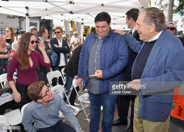 Hayley Orrantia Sean Giambrone executive producer of 'The Golderbergs' Adam F Goldberg and George Segal attend George Segal's star ceremony on the...