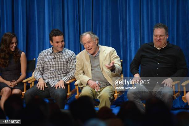 Hayley Orrantia, Troy Gentile, George Segal and Jeff Garlin attend The Paley Center For Media Presents The Goldbergs: Your TV Trip To The 1980's at...
