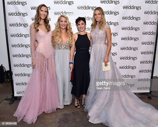 Hayley Paige and Amy Conway attend Martha Stewart Weddings Bridal Fashion Week Party at Hudson Mercantile on October 10 2016 in New York City