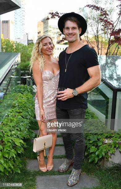 Hayley Paige and Conrad Louis attend Adore Me x Pride 2019 hosted By Gigi Gorgeous at Gitano on June 27 2019 in New York City