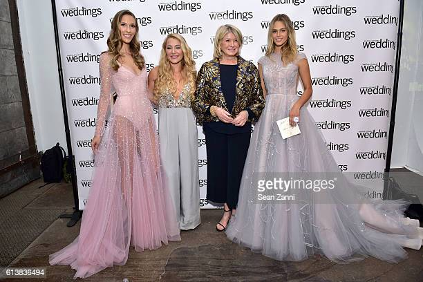 Hayley Paige and Martha Stewart attend Martha Stewart Weddings Bridal Fashion Week Party at Hudson Mercantile on October 10 2016 in New York City