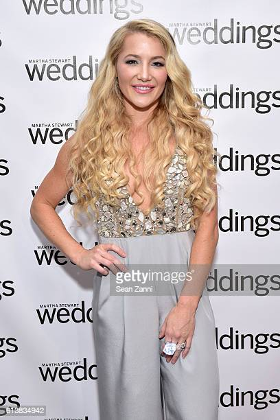 Hayley Paige attends Martha Stewart Weddings Bridal Fashion Week Party at Hudson Mercantile on October 10 2016 in New York City
