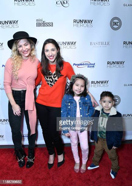 Hayley Paige Rachel Goldman and Runway Hero participants attend the Runway Heroes To Benefit Childhood Cancer Research at Glasshouse Chelsea on...
