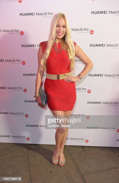 Hayley Palmer attends the launch of the Huawei Mate 20 Pro at One Marylebone on October 16 2018 in London England