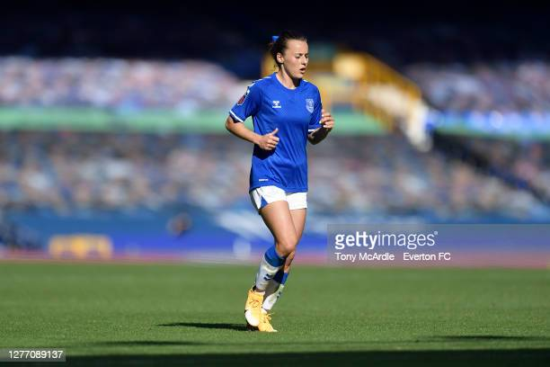 Hayley Raso of Everton Women during the Women's FA Cup Quarter Final match between Everton and Chelsea at Goodison Park on September 27 2020 in...