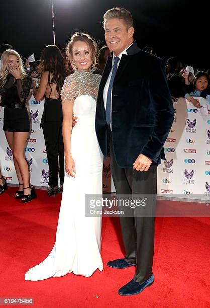 Hayley Roberts and David Hasselhoff attends the Pride Of Britain awards at the Grosvenor House Hotel on October 31 2016 in London England