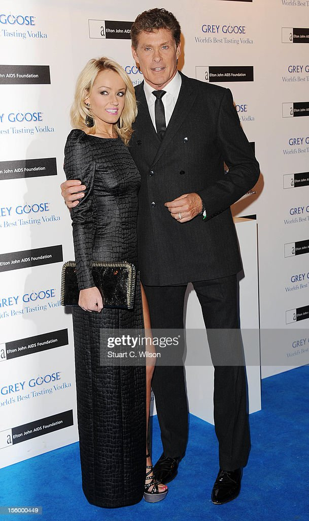 Hayley Roberts and David Hasslehoff attend the Grey Goose Winter Ball at Battersea Power station on November 10, 2012 in London, England.