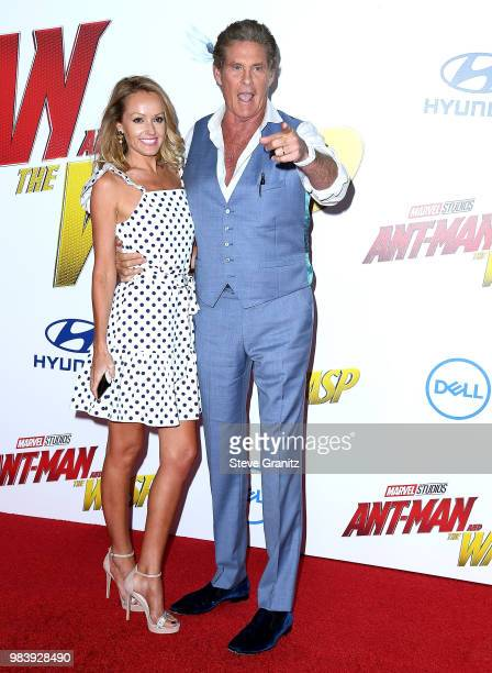 Hayley Roberts David Hasselhoff arrives at the Premiere Of Disney And Marvel's 'AntMan And The Wasp' on June 25 2018 in Hollywood California