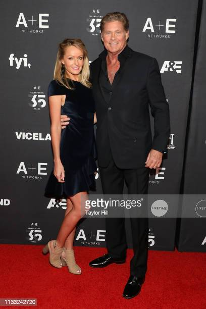 Hayley Roberts Hasselhoff and David Hasselhoff attend the 2019 AE Upfront at Jazz at Lincoln Center on March 27 2019 in New York City