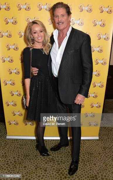 """Hayley Roberts Hasselhoff and David Hasselhoff attend the gala party to celebrate David Hasselhoff joining the cast of the West End production of """"9..."""