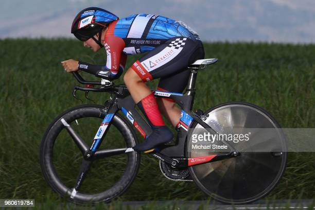 Hayley Simmonds of Great Brotain and WNT Rotor Pro Cycling Team during the 31st Women WT EmakumeenBira Stage 2 266km Individual Time Trial from...