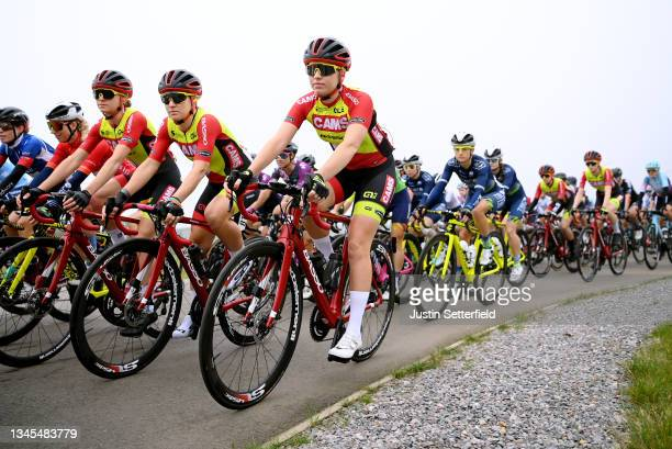 Hayley Simmonds of United Kingdom and Katie Scott of United Kingdom and Team Cams - Tifosi compete during the 7th The Women's Tour 202 - Stage 5 a...