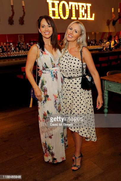 Hayley Sparkes and Naomi Isted attend the Debenhams Beauty Club Community Awards 2019 at Ham Yard Hotel on June 26 2019 in London England