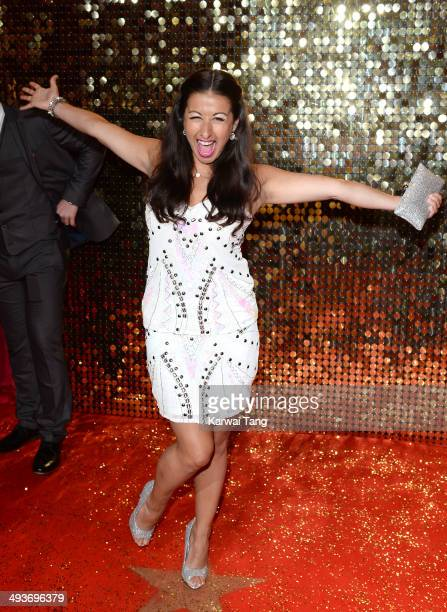 Hayley Tamaddon attends the British Soap Awards held at the Hackney Empire on May 24 2014 in London England