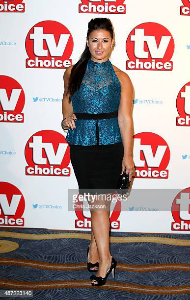 Hayley Tamaddon attends the TV Choice Awards 2015 at Hilton Park Lane on September 7 2015 in London England