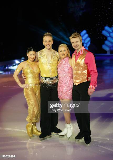 Hayley Tamaddon Dan Whiston Jane Torvill and Christopher Dean of Torvill and Dean's Dancing on Ice Tour pose together on April 8 2010 in Sheffield...