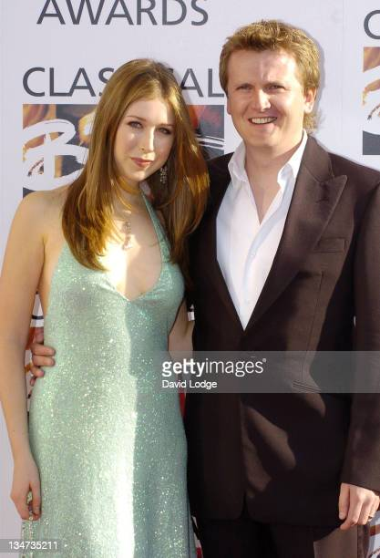Hayley Westenra and Aled Jones during Classical Brit Awards 2005 at Royal Albert Hall in London Great Britain
