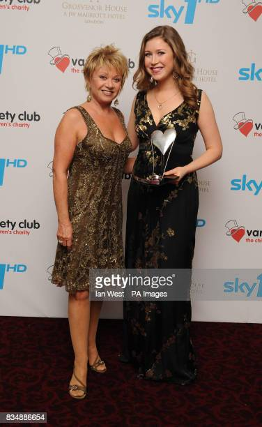 Hayley Westenra wins the Classical Performance of the Year Award presented by Elaine Paige at the Variety Club Showbiz Awards 2008 at the Grosvenor...