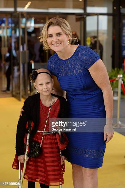 Hayley Wickenheiser and Grace Bowen attend the 2014 Canada's Walk Of Fame Awards at the Sony Centre on October 18 2014 in Toronto Canada