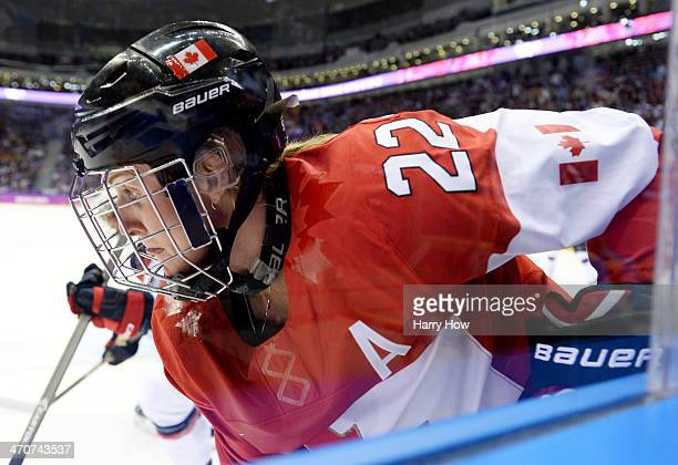 Hayley Wickenheiser of Canada skates against the United States during the Ice Hockey Women's Gold Medal Game on day 13 of the Sochi 2014 Winter...