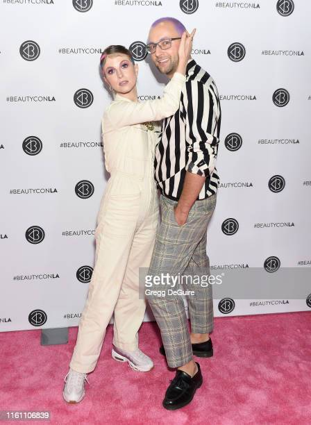 Hayley Williams and Brian O'Connor attend Beautycon Los Angeles 2019 Day 2 Pink Carpet at Los Angeles Convention Center on August 11, 2019 in Los...