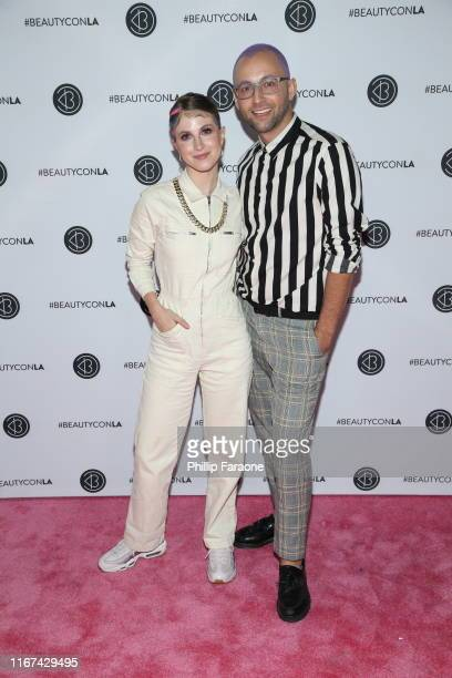 Hayley Williams and Brian O'Connor attend Beautycon Los Angeles 2019 Pink Carpet at Los Angeles Convention Center on August 11, 2019 in Los Angeles,...