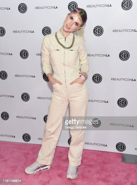 Hayley Williams attends Beautycon Los Angeles 2019 Day 2 Pink Carpet at Los Angeles Convention Center on August 11 2019 in Los Angeles California