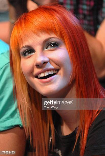Hayley Williams of Paramore at MTV's TRL Studios in Times Square in New York City on September 9 2007