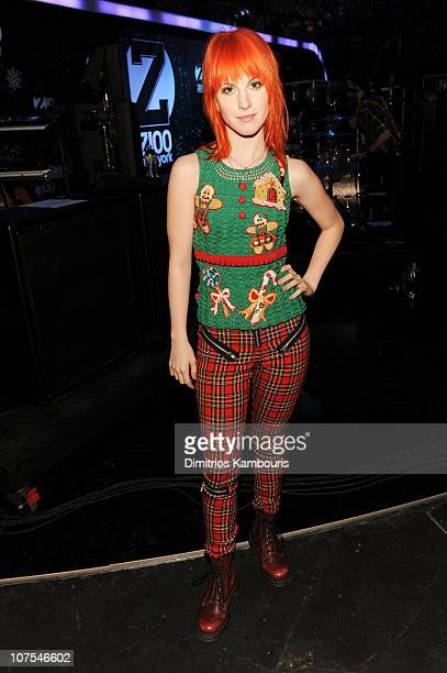 Hayley Williams of Paramore attends Z100's Jingle Ball 2010 presented by H&M at Madison Square Garden on December 10, 2010 in New York City.