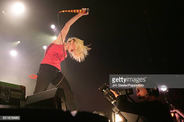 Hayley Williams of Paramore performing on stage at Wembley Arena in London on the 18th December, 2009.