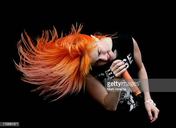 Hayley Williams of Paramore performs at Day 1 of Pinkpop at Megaland on June 14 2013 in Landgraaf Netherlands