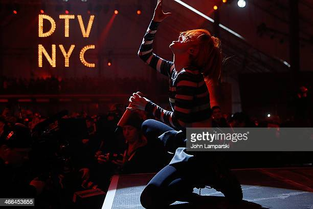 Hayley Williams of Paramore performs at DIRECTV's 8th Annual Celebrity Beach Bowl on February 1 2014 in New York City