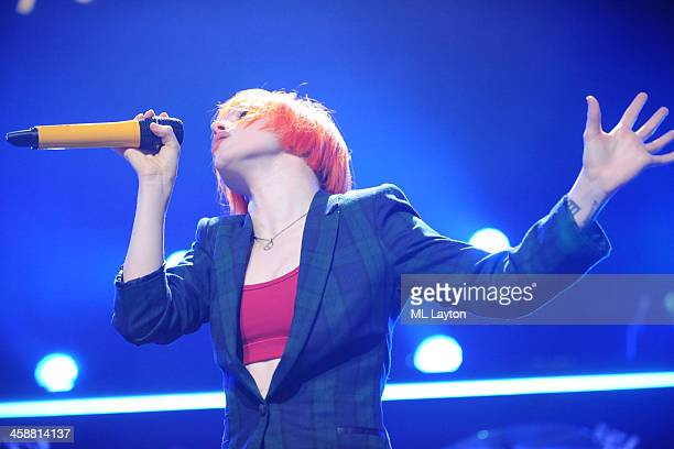 Hayley Williams of Paramore performs at Hot 995's Jingle Ball 2013 at Verizon Center on December 16 2013 in Washington DC