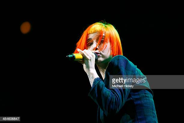 Hayley Williams of Paramore performs at the 1035 KISS FM's Jingle Ball 2013 at United Center on December 9 2013 in Chicago Illinois