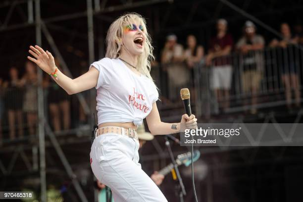 Hayley Williams of Paramore performs at the Bonnaroo Music & Arts Festival on June 8, 2018 in Manchester, Tennessee.