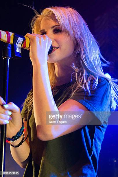 Hayley Williams of Paramore performs at The Fillmore on October 11 2009 in Detroit Michigan