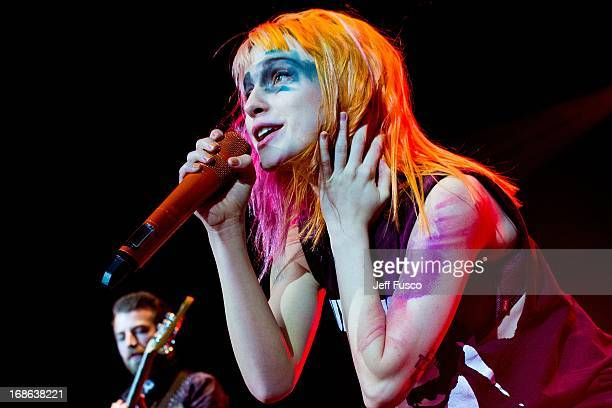 Hayley Williams of Paramore performs at the Radio 1045 Birthday Show at the Susquehanna Bank Center on May 12 2013 in Camden New Jersey