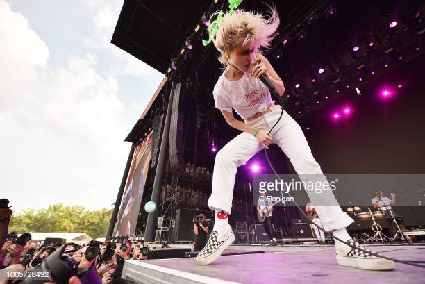 Hayley Williams of Paramore performs during the 2018 Bonnaroo Music & Arts Festival on June 8, 2018 in Manchester, Tennessee.