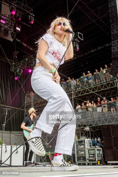Hayley Williams of Paramore performs during the Bonnaroo Music and Arts Festival on June 8, 2018 in Manchester, Tennessee.
