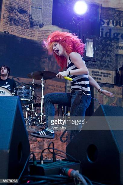 Hayley Williams of Paramore performs in concert at the Verizon Wireless Music Center on July 10 2009 in Noblesville Indiana
