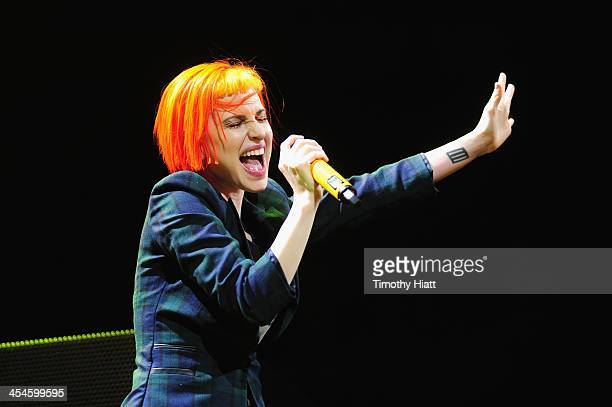 Hayley Williams of Paramore performs onstage during 1035 KISS FM's Jingle Ball 2013 presented by Jam Audio Collection at United Center on December 9...