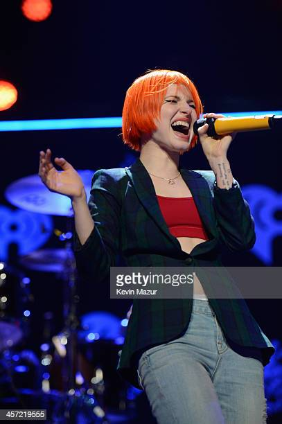 Hayley Williams of Paramore performs onstage during Hot 995's Jingle Ball 2013 presented by Overstockcom at Verizon Center on December 16 2013 in...