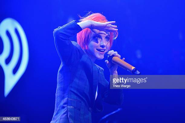 Hayley Williams of Paramore performs onstage during Q102's Jingle Ball 2013 presented by Bernie Robbins Jewelers at Wells Fargo Center on December 4...