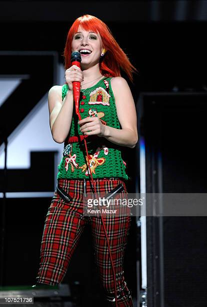 Hayley Williams of Paramore performs onstage during Z100's Jingle Ball 2010 presented by HM at Madison Square Garden on December 10 2010 in New York...