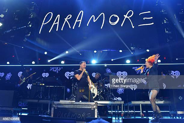 Hayley Williams of Paramore performs onstage during Z100's Jingle Ball 2013 presented by Aeropostale at Madison Square Garden on December 13 2013 in...